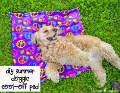 Need to keep your dog cooled off? Here is a DIY Dog Cooling Mat Tutorial that will keep your pooch cool while he's outside with the family.