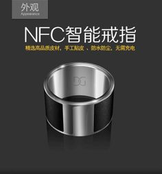 High-end GalaGreat G1 Smart Ring NFC smart Waterproof Ring NFC smartphone Men's ring encryption Wearable devices free shipping $39.00