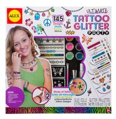Amazon.com: ALEX Toys Spa Ultimate Glitter Tattoo Party Craft Kit: Toys & Games