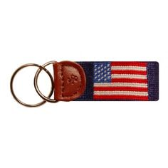 American Flag Key Fob in Navy by Smathers & Branson  Want.