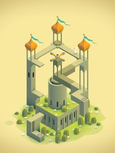 Level from Monument Valley Game with Princess Ida on iOS by ustwo