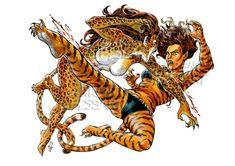 Tigra Cheeta Laurent-Libessart DA by pin-up-corner-shop on DeviantArt Arte Dc Comics, Dc Comics Superheroes, Bd Comics, Comics Girls, Comic Book Characters, Comic Character, Comic Books Art, Comic Art, Tigra Marvel