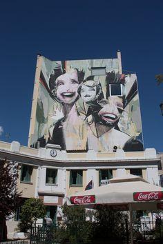 Athens Walking Tours - Graffiti in Iroon Square, Psiri Area