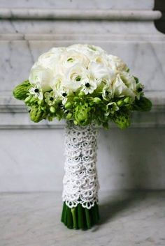 ranunculus - with lace wrap