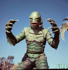 Creature from the Black Lagoon is a 1954 monster horror film directed by Jack Arnold, and starring Richard Carlson, Julia Adams, Richard D. Horror Monsters, Scary Monsters, Famous Monsters, Classic Sci Fi, Classic Horror Movies, Tv Movie, The Frankenstein, Black Lagoon, Classic Monsters