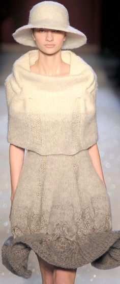 runway knitted fashion ♥✤ | Keep the Glamour | BeStayBeautiful