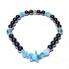 Be Serene - Hematite & Sea Glass Energy Bracelet | Edgy Soul