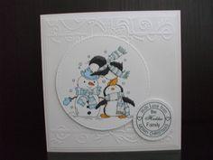 Handmade Christmas card using LOTV penguin pals Handmade Christmas, Penguins, Christmas Cards, Crafting, Collection, Decor, Christmas E Cards, Decoration, Xmas Cards