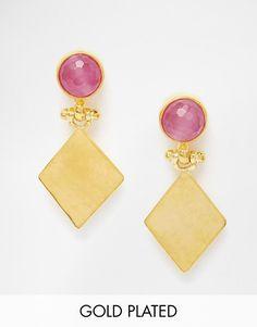 Mega cool Ottoman Hands Lilac Stone & Shape Earrings Ottoman Hands ¯reringe til Damer til hverdag og fest