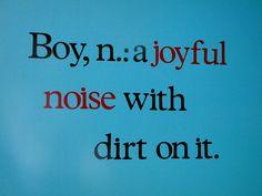 Sock Monkey Nursery wall quote made with my Cricut - my little man truly is a joyful noise