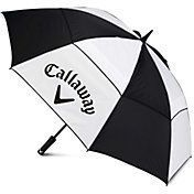 Callaway 5915006 60 in. Double Canopy Umbrella-White & Black, As Shown Golf Umbrella, White Umbrella, Golf 7, Club Face, Extreme Weather, Golf Tips, Golf Shoes, Golf Ball, Golf Clubs