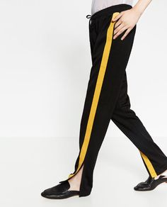 Image 2 of YELLOW STRIPE TROUSERS from Zara