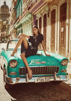 Untitled by Nima (fashion photographer) Photography Poses Women, Car Photography, Outdoor Photography, Beauty Photography, Sexy Cars, Hot Cars, Cuba, Photoshoot Vintage, Car Poses