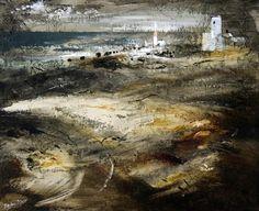 'Portland Bill' by John Piper, 1950 (oil on board) Landscape Art, Landscape Paintings, Landscape Prints, John Piper Artist, Art Uk, Your Paintings, New Art, Cool Artwork, Watercolor Artists