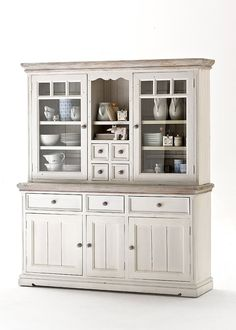 Beachcrest Home Buffetschrank Talia Furniture, Farmhouse Kitchen Decor, White Kitchen Remodeling, Home Furniture, Cabinet, Furniture Uk, Cottage Furniture, China Cabinet, Glass Cabinet Doors