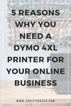Have you considered purchasing a DYMO printer for your online business? Whether you're selling on Etsy or your own platform, check out my latest blog which includes 5 reasons why you need a DYMO 4XL printer for your online business!