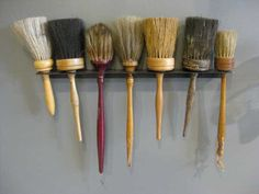 """brushes-antique.jpg: Catherine White: """"On a recent trip to Rhode Island brushes caught my eye. """""""