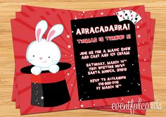 Magic Show Birthday Party Invitation - Printable. $14.99, via Etsy.