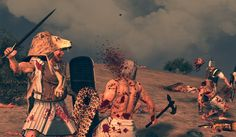 The Stream of Time: The Minoans: Their Polity - A Mycenaean Wanax killing an Egyptian soldier, a screenshot from the Total War: Age of Bronze mod