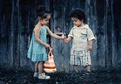 Kinder, Mädchen, Glücklich