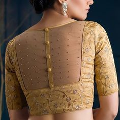 design blouse net net blouse designYou can find Designer blouse patterns and more on our website Indian Blouse Designs, Kurta Designs, Netted Blouse Designs, Stylish Blouse Design, Saree Blouse Neck Designs, Fancy Blouse Designs, Bridal Blouse Designs, Design Of Blouse, Latest Blouse Designs