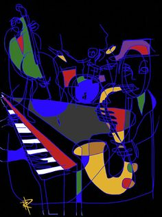 Jazz inspired art lets me SEE the beauty in music.