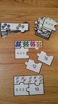 Multiplication of Whole Numbers Puzzles CCSS 3.OA.A.1, serves as a valuable asset to any 3rd grade math classroom. This is a great multiplication game resource for review, math centers, group work and for interventions. This puzzle set includes 22 multiplication puzzles, answer key, and an optional center instruction page. Your students will love learning about multiplication!