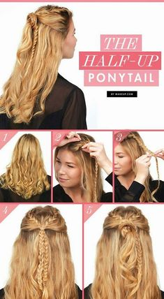 Best Hairstyles For Your -The Half Up Ponytail- Hair Dos And Don'ts For Your With The Best Haircuts For Women Over Including Short Hairstyle Ideas, Flattering Haircuts For Medium Length Hair, And Tips And Tricks For Taming Long Hair In Your 3 Ponytail Hairstyles, Pretty Hairstyles, Hairstyle Ideas, Classic Hairstyles, Easy Hairstyle, 30s Hairstyles, Haircuts For Medium Length Hair, Hair Medium, Low Maintenance Hair