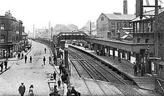 Silvertown Station, looking east, 1910 Vintage London, Old London, North London, East London, London Postcard, Photo Record, Newham, Disused Stations, London History