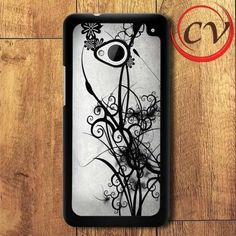 Abstract Beautiful Black Pattern HTC One M7 Black Case