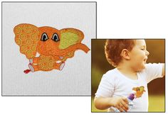 Free Embroidery Design: Elle the Elephant