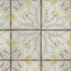 Portugal 1 gray & honey on off white. Beautiful Handmade tile by Tabarka Studio.