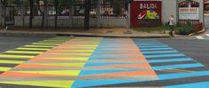 Pasos peatonales de Color Aditivo by Carlos Cruz-Diez