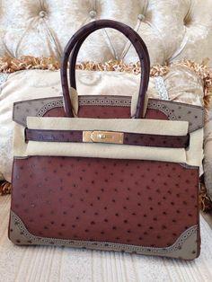 hermes kelly handbags - Sacs de Cr��ateur - Hermes Birkin 30CM Mousse Ostrich Leather ...
