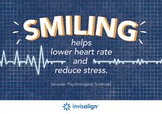 Smiling helps reduce stress. Other popular stress reduction techniques are focused breathing, exercise, walking outdoors, listening to calming music, watching a funny movie, and hugging. What's your go-to activity for reducing stress?