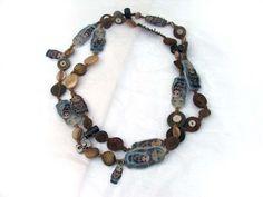Lille Gitte: Lange halssmykker med Babuska motiv Beaded Bracelets, Leather, Jewelry, Fashion, Moda, Jewlery, Jewerly, Fashion Styles, Pearl Bracelets