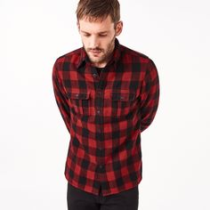 Holbrook Wool Oxford Check Fitted Shirt