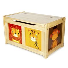Natural Safari Toy Box, Storage Solutions, Nursery