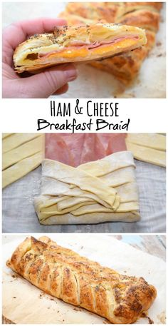 Get w/this easy Ham and Cheese Breakfast Braid made with lunch meat and puff pastry and topped with poppy seeds. Perfect for breakfast, lunch, or dinner! Breakfast Pastries, Breakfast Dishes, Breakfast Time, Breakfast Meat, Breakfast On The Go, Delicious Breakfast Recipes, Brunch Recipes, Yummy Food, Puff Pastry Recipes
