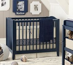 Pottery Barn's Emerson Mini Crib & Mattress Set may be the perfect solution since Eden will still be in a crib when baby #2 arrives.