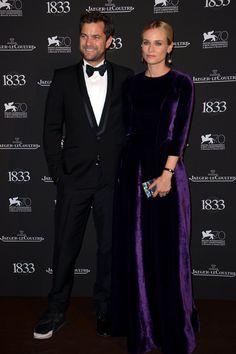 La fiesta de Jaeger en Venecia. Diane Kruger y Joshua Jackson.
