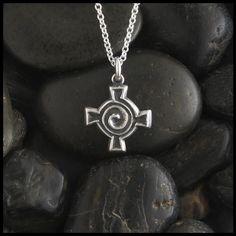 CS-DB Beauty Classic Vintage Lucky Knot Cross Pendants Silver Necklaces