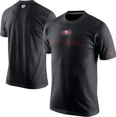 58eb61847 San Francisco 49ers Black Training Day Tee By Nike