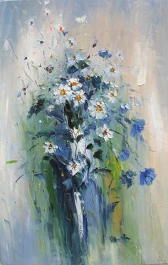 Marchella is a Italian-born Canadian artist. Her family greatly valued the arts, taking an early. Wildflower Drawing, Inspiration Artistique, Flower Canvas, Impressionist Paintings, Abstract Flowers, Caricatures, Floral Watercolor, Lovers Art, Painting Inspiration