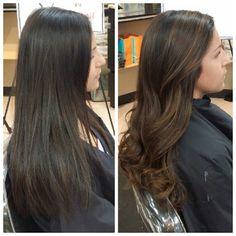 brown black hair balayage