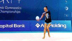 Marina Durunda's ball routine at 2014 European Championships