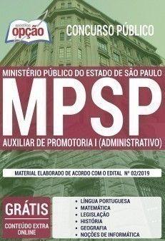 Apostila Concurso Mp Sp 2019 Auxiliar De Promotoria I