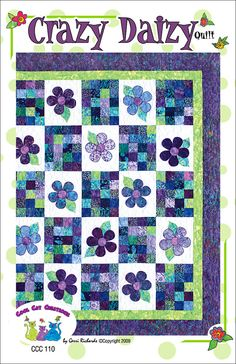Crazy Daizy Quilt Pattern by Cool Cat di coolcatsandquilts su Etsy