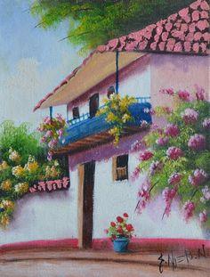 Cuadros Modernos Pinturas : Paisajes Fáciles de Pintar al Óleo