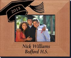 Graduation Picture Frame with Cap - Always FREE laser engraving. Graduation Picture Frames, Graduation Pictures, Personalized Picture Frames, Personalized Gifts, Great Christmas Gifts, Christmas Themes, Graduation Gifts For Him, Laser Engraving, Laser Cutting